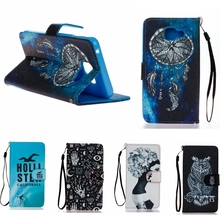 New Arrical! Lanyard Flip Leather Phone Case For Samsung Galaxy A5 2016 A510 A5+ A510F A5100 Case Strap Stand Card holder Cover
