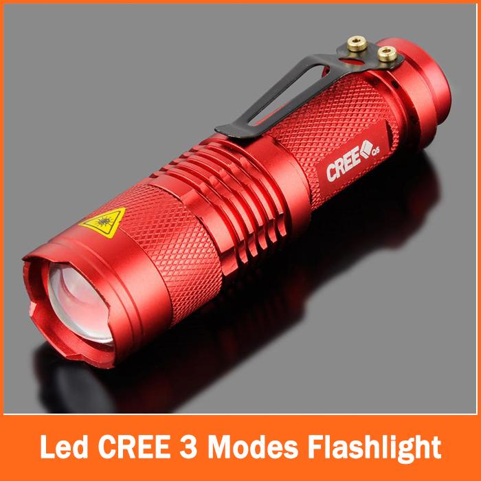 zk90 High Quality Mini LED Torch 7W 2000LM CREE Q5 LED Flashlight Adjustable Focus 3 Modes Zoom Flash Light Lamp Free Shipping(China (Mainland))