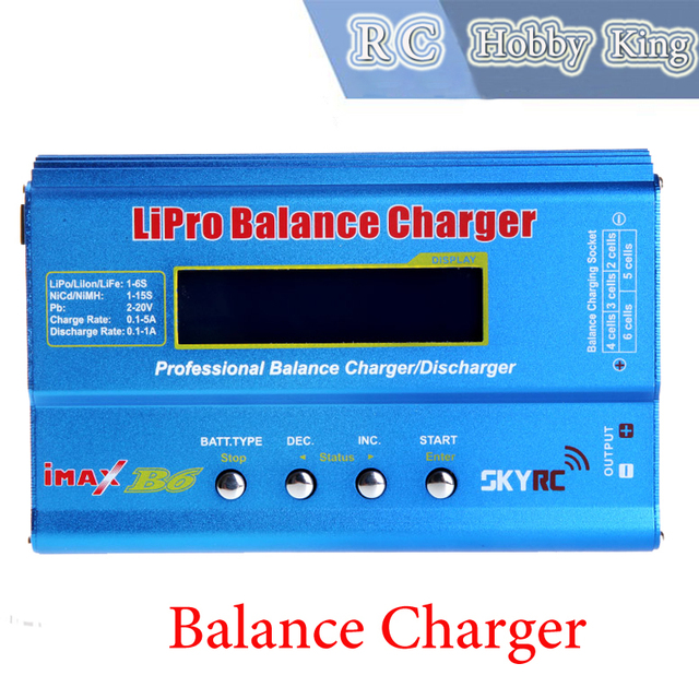 2015 Original IMAX B6 Battery Balance Charger Lipo Digital Balance Charger Charging adapter for rc helicopter Dron Free shipping