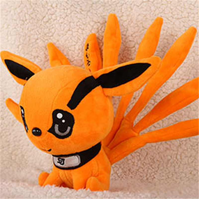 "[PCMOS] 2017 New Anime Naruto Uzumaki Kyuubi Kurama Nine-Tales Fox Demon 10"" Plush Stuffed Doll Free Shipping 16072104(China (Mainland))"