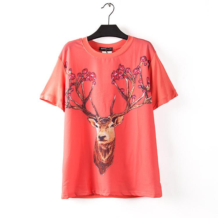 Hongkong A-list Fashion Co., Ltd High Quality Women's Tops O-Neck T-Shirt short-Sleeve T Shirts Plus Size Tees(China (Mainland))