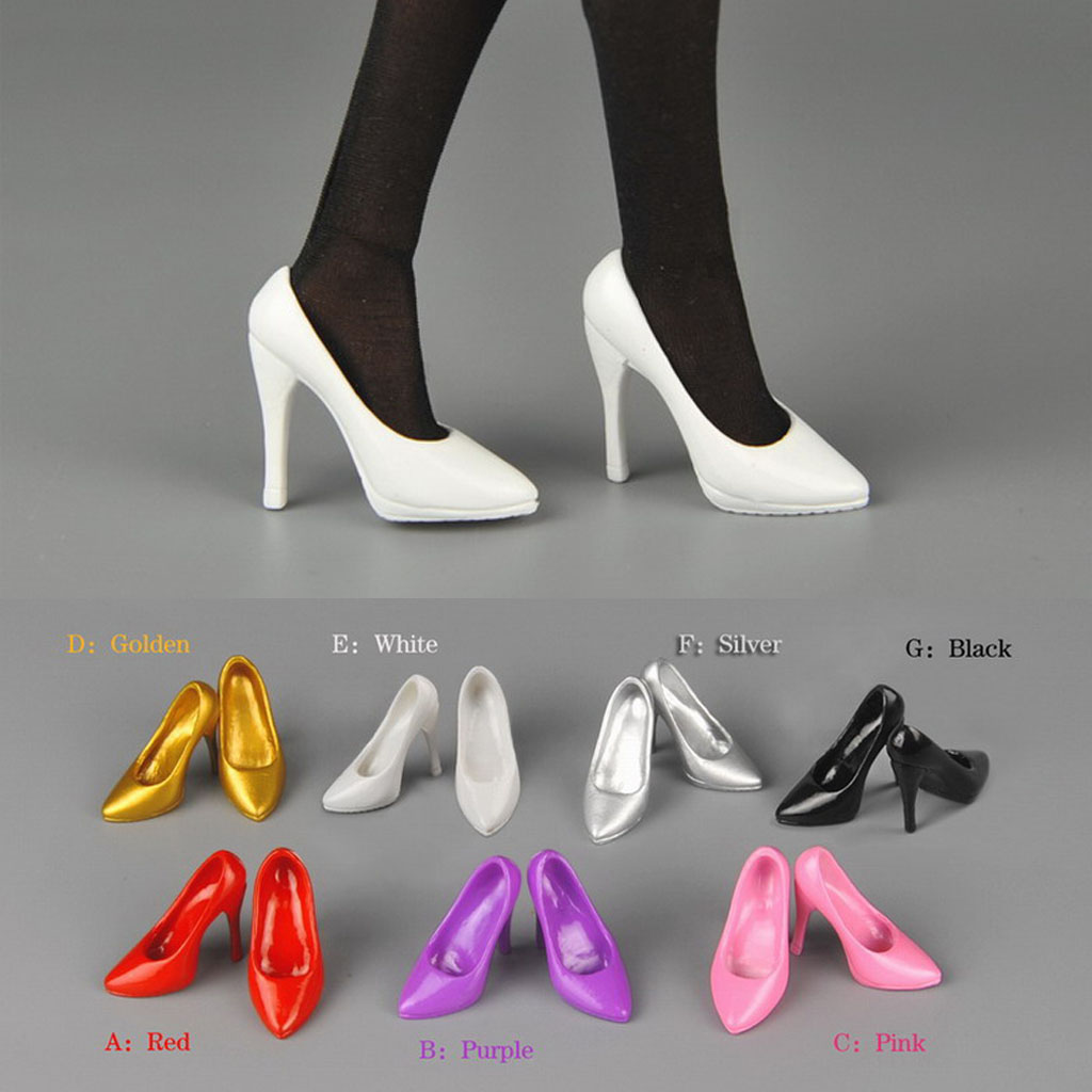 1:6 Scale Female Solider High Heels Shoes for 12/'/' Phicen Figures Body Doll