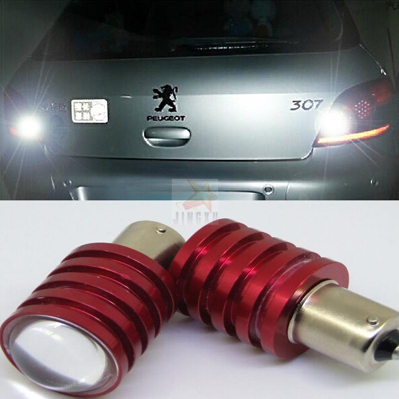 2x P21w Ba15s 1156 White 6000k Cree Car Lights Led Rear