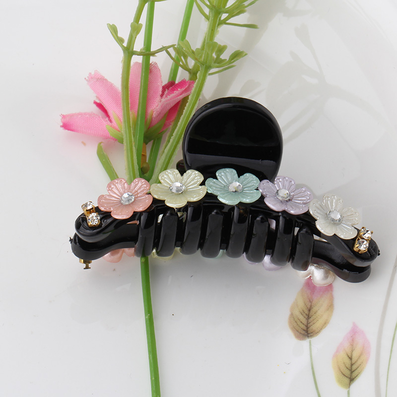 New Korean Style Acrylic Five Flower Claw Hairpins Hair gripper Women Hair Jewelry Hairpins Delicate Hair Accessories(China (Mainland))