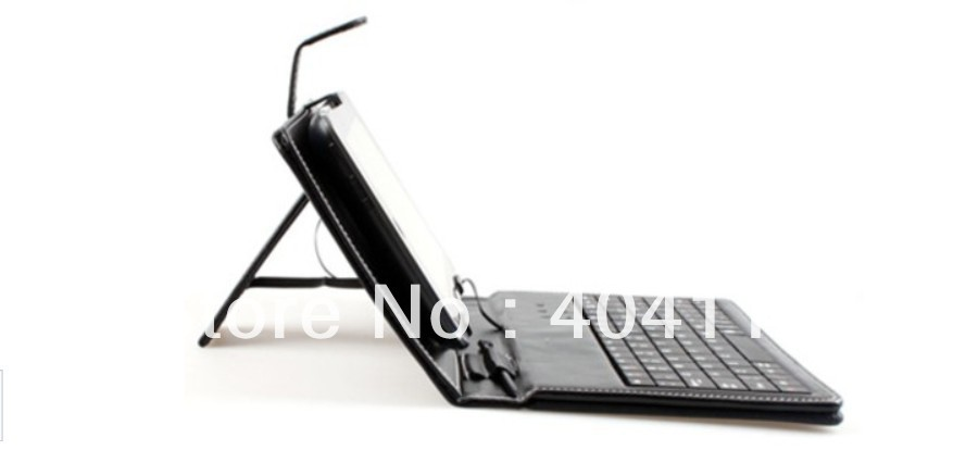 """Free Shipping Leather Case USB Keyboard Stylus Pen for 7"""" 7 inch Tablet PC Android ePad MID"""