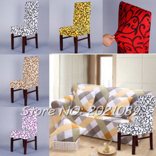 Timelive new 2016 chair cover wedding decoration printed dining spandex strech party home room chair covers protector decor(China (Mainland))