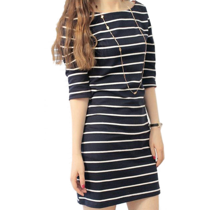 Free shipping ! Hot 2014 new brand women ! High-quality large size striped dress / S / M / L / XLОдежда и ак�е��уары<br><br><br>Aliexpress