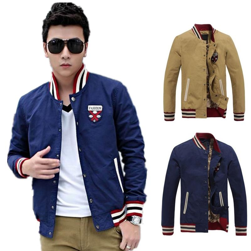 baseball jacket sport male jacket hip hop casual college jackets mens varsity jackets fashion designer korean men coat XS 52350(China (Mainland))