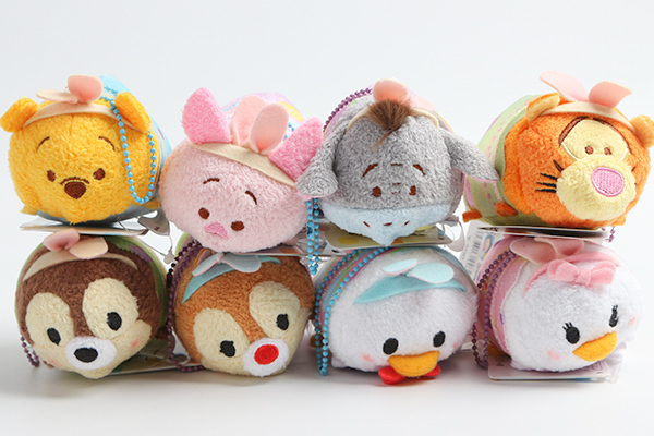 Original Tsum Tsum W innie the Poo h Donald Duck Chipmunk Easter Kids Plush Toys Smartphone Cleaner Small Pendant Children Gifts(China (Mainland))