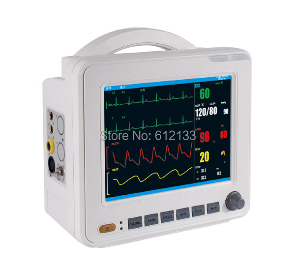 Здесь можно купить  NEW MODEL Six Parameter Patient Monitor 8.4 inch SPO2/PR TEMP NIBP ECG RESP  ICU Monitor  Красота и здоровье