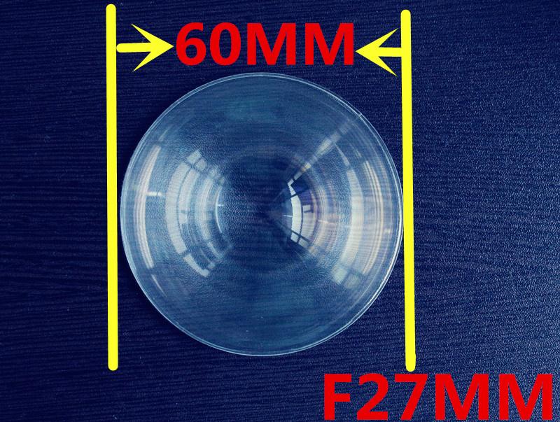 Diameter 60 mm Fresnel Lens ,Focal length 27mm,High light condenser,Fresnel Lens used Solar concentrator,short focal length lens