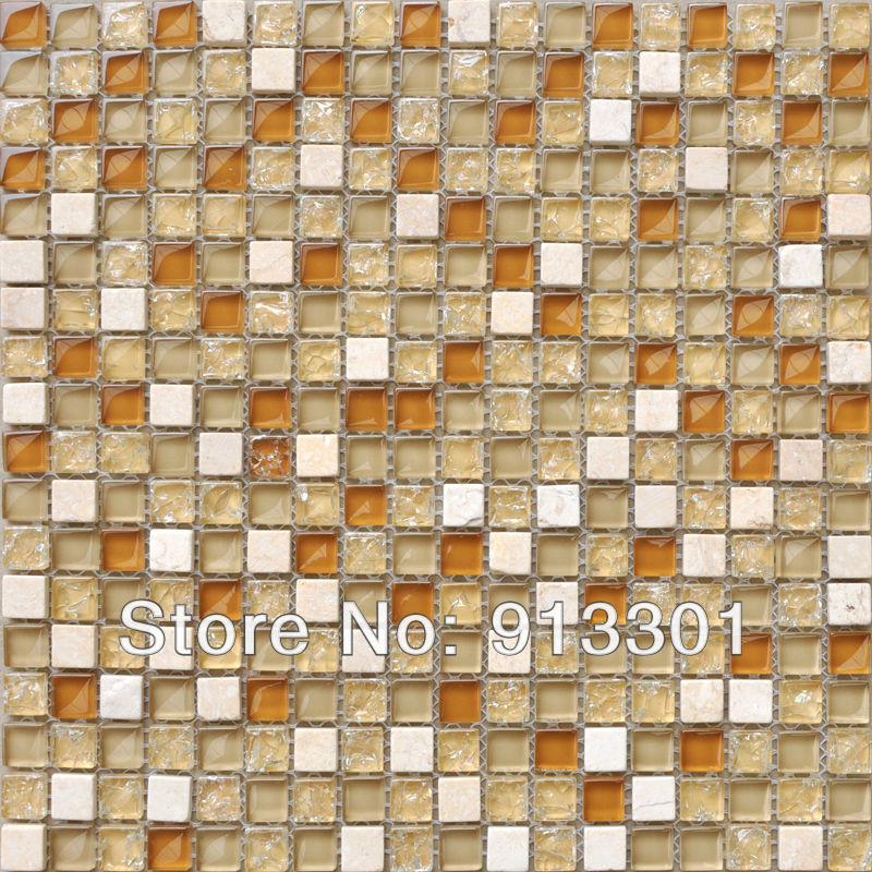 Crystal Glass Tile Backsplash Pattern Stbl305 Stone Glass Random Blend Mosaic Tiles Discount