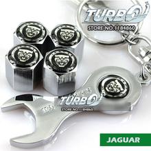 JAGUAR Logo Emblem Car Tire Valve Stem Cap Dust-proof Cover with Wrench for Jaguar XE XF XFR XK XKR XJ F-TYPE S-TYPE E-TYPE(China (Mainland))