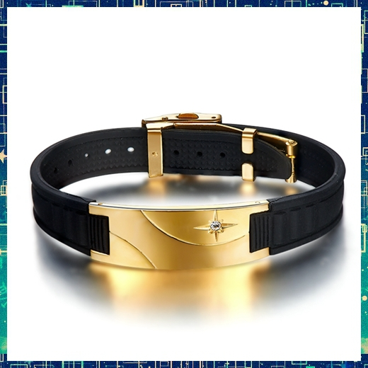 D008 Noproblem Super man BALANCE Titanium casual luxulry power band gold health Rubber magnetic sports Bracelets silicone<br><br>Aliexpress