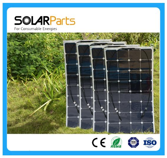 Solarparts 4x 100W flexible solar panel 12V high efficiency solar cell yacht boat marine RV solar module battery charge cheap(China (Mainland))