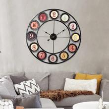 Large Wall Clock Saat Reloj Clocks Relogio de Parede Horloge Murale Pared circular hollow metal - MeiXuDa store