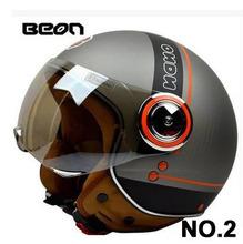 Motorcycle Helmet  Jet helmet for motorcycles 3/4 half helmet Scooter  BEON B110B  open face capacete ECE(China (Mainland))