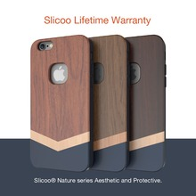 Slicoo Nature Series Well Made Wood Slim Covering Case for iPhone 6/6s [Lifetime Warranty]