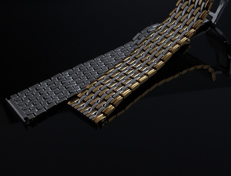 Пользовательские РЕМЕШКИ Замена Топ Люксовый Бренд Мужчины Бизнес ремешки Стиль металлические браслеты для Моды Кварцевые Наручные Часы