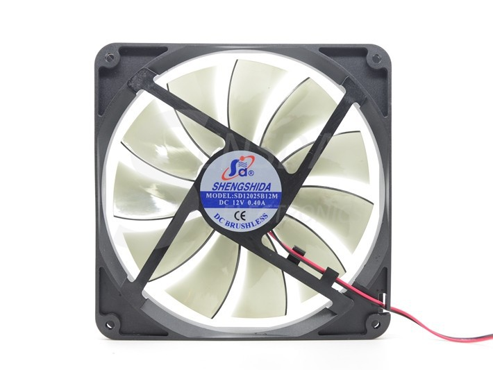 Free Shipping Best silent quiet 140mm pc case cooling fans 14cm DC 12V 4D plug computer coolers(China (Mainland))