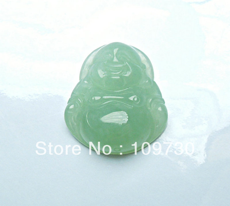 Natural jade pendant a handmade ice kinds of Emerald Buddha female models for security and peace with certificate dh 0024(China (Mainland))