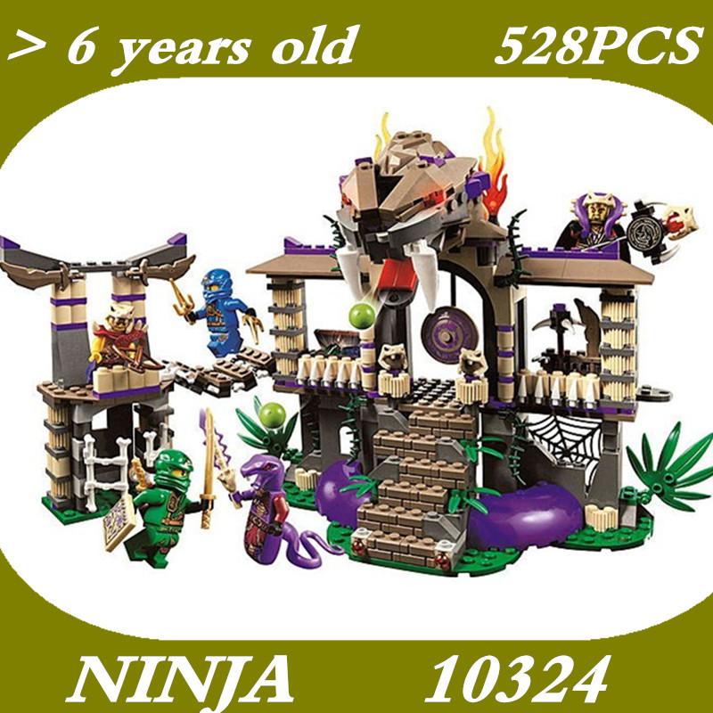 528pcs BELA 10324 Ninja Enter The Serpent Lloyd Jay Kapau'rai Minifigures sets Building Blocks Figures Toys Compatible withLego(China (Mainland))