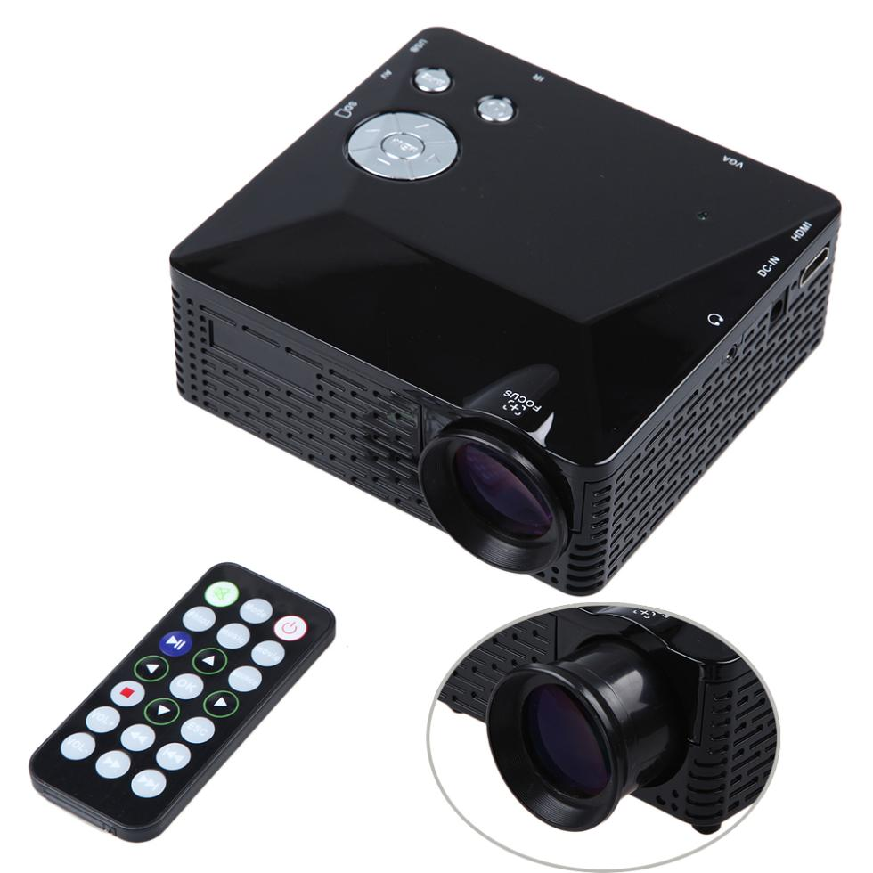 Dbpower mini led projector bl 18 lcd portable pico for Hdmi pocket projector
