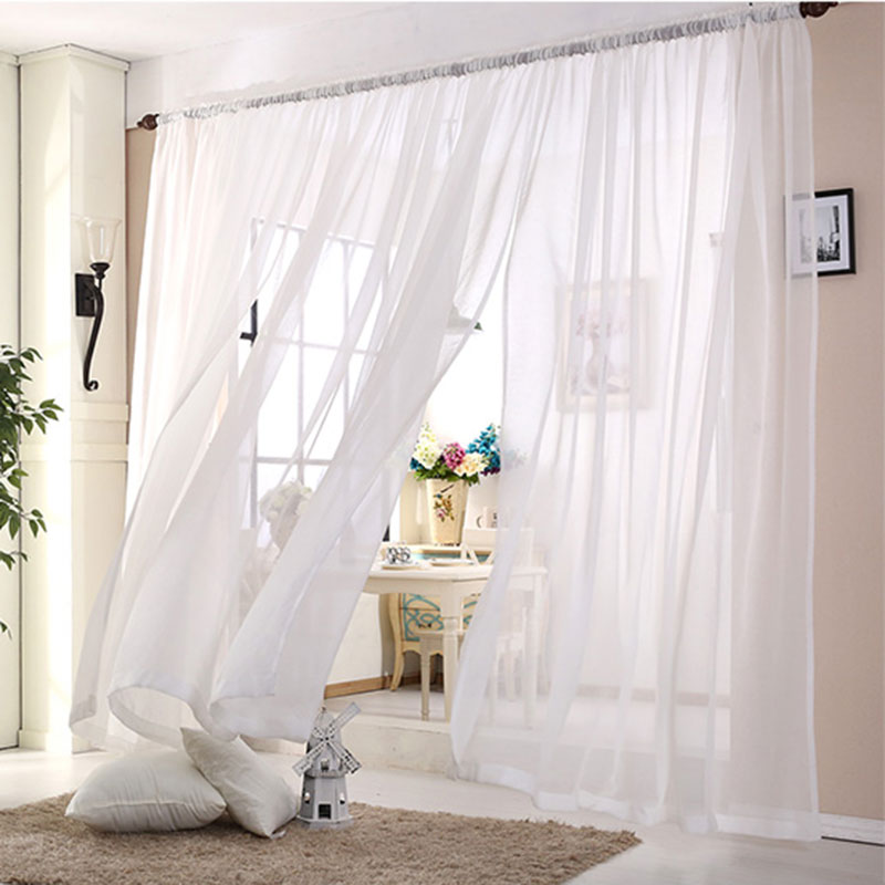 Compra cortinas transparentes online al por mayor de china for Cortinas transparentes salon