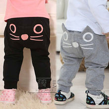 New Kids Boys Girls Cotton Casual Harem Pants Printed Long Pants Trousers 3-8Y(China (Mainland))