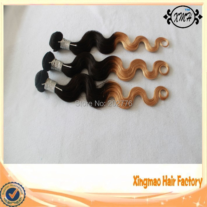 7A Grade Ombre Color Indian Remy Human Hair Extension 90g/piece T1B/27 Body Wave 14-26 shipment within 24 hours<br><br>Aliexpress