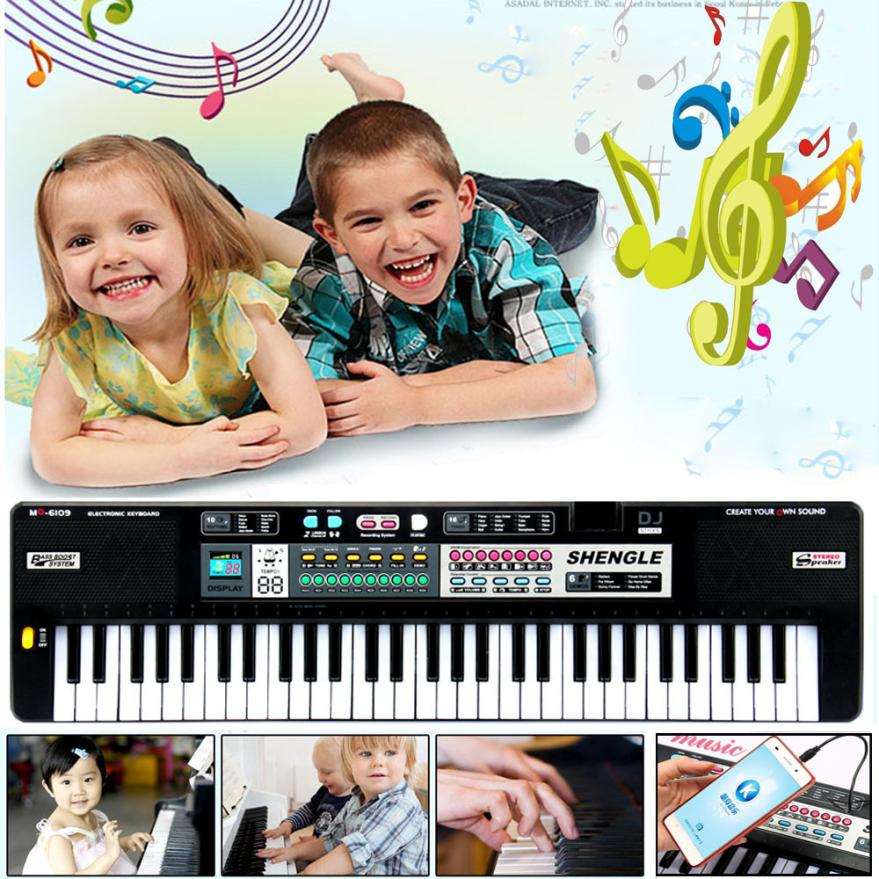 New 61 Keys Digital Music Electronic Keyboard Key Board Gift Electric Piano Gift Music Instrument toys for children #25(China (Mainland))