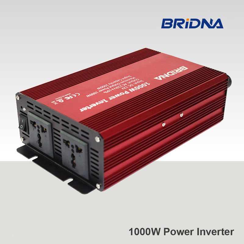 BRIDNAfull 1000w (2kw peak)modified sine wave off gird converter dc 12v 24v to ac 220v 230v battery auto car home power inverter(China (Mainland))