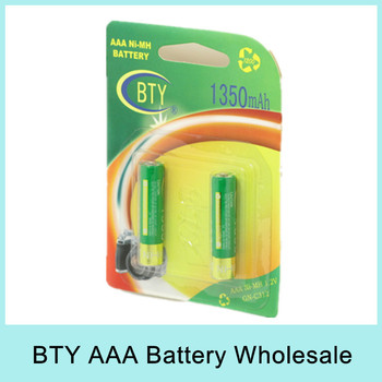 10pcs/lot BTY 1.2V 1350mAh AAA Ni-MH Rechargeable Battery Set (2pcs/pack) Original Brand New For Russia Belarus Wholesale