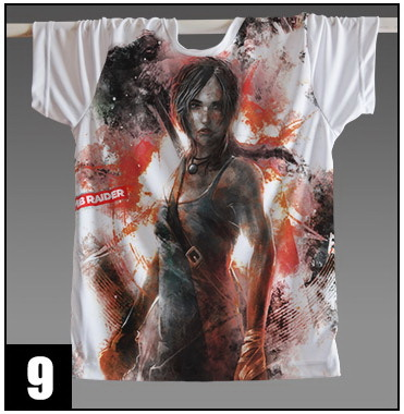 New 2015 Tomb Raider Lara Croft  punk slim fit Cosplay T-shirt New Dark Gery Tee Shirt Costume ClothesОдежда и ак�е��уары<br><br><br>Aliexpress