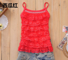Drop shipping 2014 New Arrival Fashion Sweety Cake Layer Lace Waistcoat Camisole Chiffon Tank Tops Women's Vest,Y338(China (Mainland))