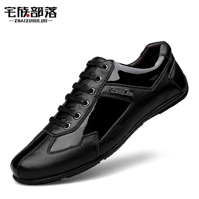 Plus Size 37-48 Genuine Leather Men Flats Shoes Men Casual Shoes Spring Autumn Comfortable Loafers Brand Leather Zapatos Hombre