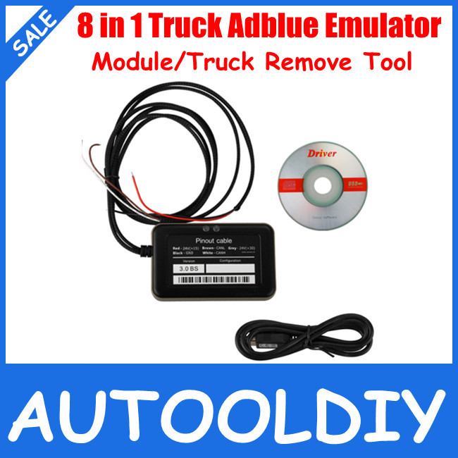 2015 New Arrival Hot Selling 8 in 1 Truck Adblue Emulator For Mercedes MAN Scania Iveco DAF Volvo Renault And Ford Free Shipping(China (Mainland))