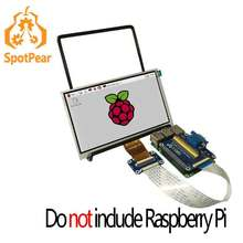 Buy Raspberry Pi 7 inch LCD 7inch 800x480 display and VGA Connector DPI driver for $25.00 in AliExpress store