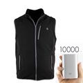 2016 New Arrival Christmas Gift Winter Electric Heating Vest Mens 5V 2A Polar Fleece Varme Veste