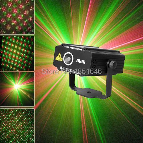 NEW HOT Pocket Mini RG Laser Stage Lighting Projector DJ Party Show Xmas Light(China (Mainland))