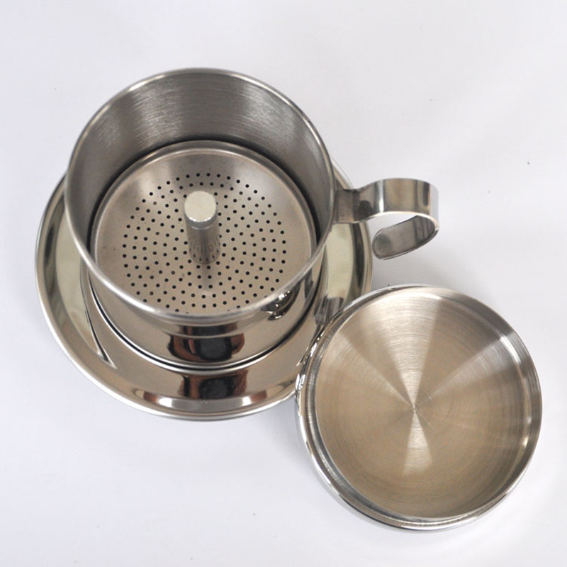 The portable stainless steel filter coffee maker / drip coffee pot filter tea coffee filters tools Vietnamese pot Kitchen Tools(China (Mainland))