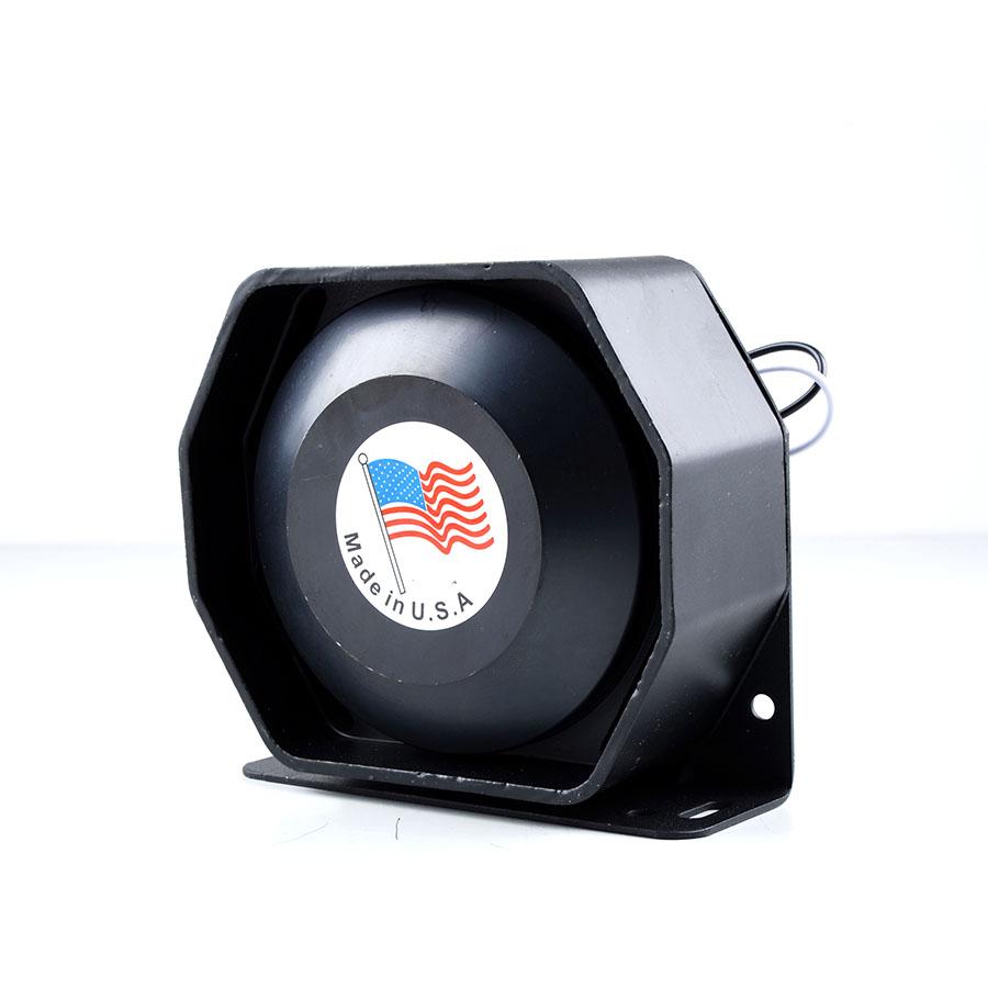 DC12V 200W Black Ultra Slim Metal Speaker Car Styling Police Siren Flat Loudspeaker Electronic Honr for All Car(China (Mainland))