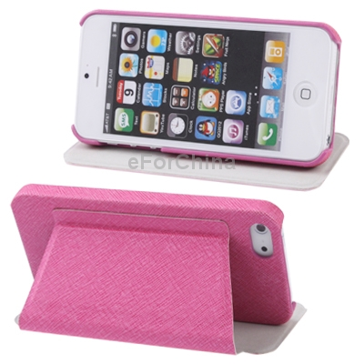 Discounting High Quality Case Flip Horizontal & Holder Genuine Leather Case for iPhone 5 Free Shipping(China (Mainland))