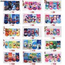 2Pair/lot Mini Melissa 3D Fashion Boys Socks Girls Sock Print Elsa Cute Cartoon Kid's Christmas Calcetines Size 1-12years kids