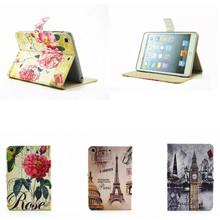 Buy LY Cute Fashion Cartoon Design PU Leather Stand Case Ipad Mini 2 3 Retina Smart Tower Flower Cover mini2 mini3 for $9.26 in AliExpress store