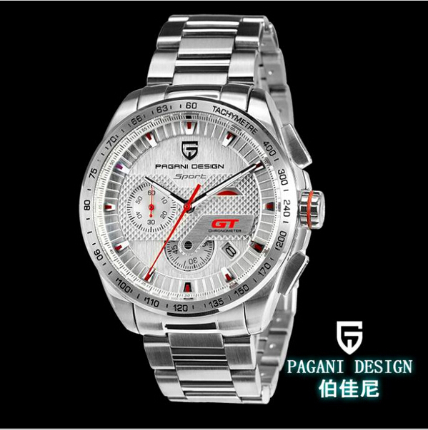 Pagani Design Fashion TAG mens watch stainless steel quartz chronograph men's luxury watches top brand with BOX (CX - 2641)