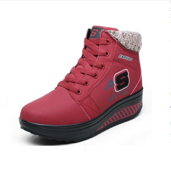 EUR 35-40 Winter waterproof Women Boots Platforms Wedge Women's Casual Shoes Fashion Add Wool Warm Snow Boots Swing ankle boots(China (Mainland))