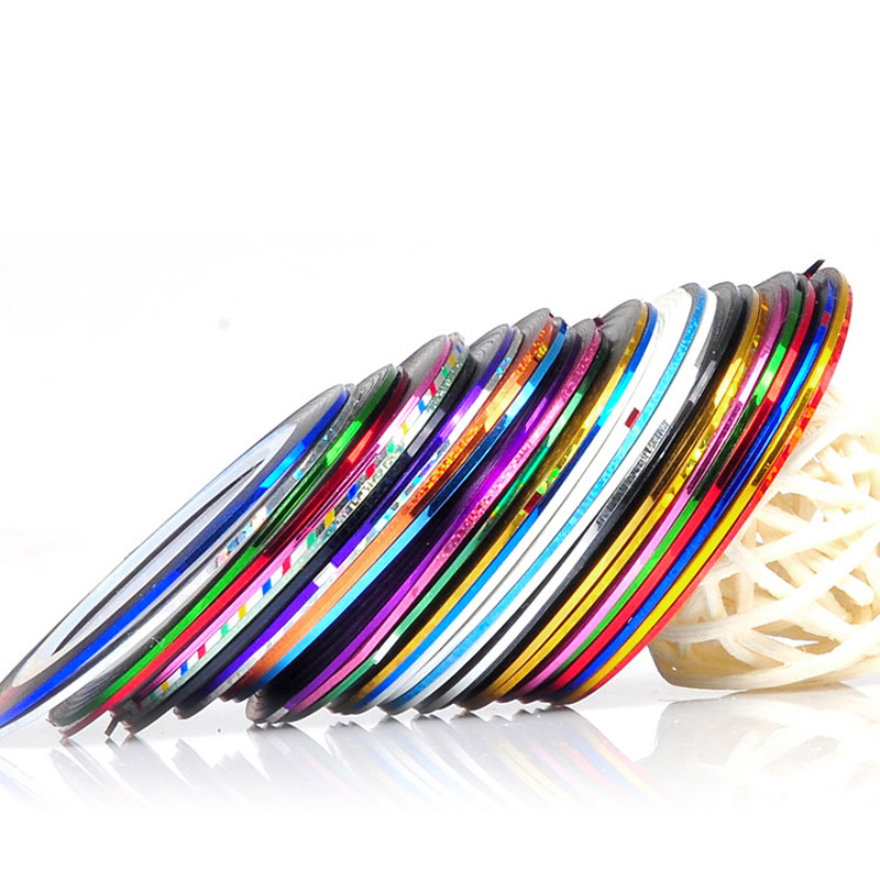 10 Colors Nail Art Sticker Striping Tape Line Manicure Tools Beauty Decorations For Nail Stickers Water Nails(China (Mainland))