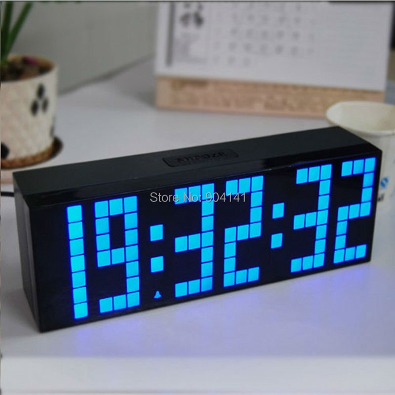 High Quality Multi-Functional Big Number led Digital Alarm Clock/Adapter Powered Clock Novelty Gift Despertador(China (Mainland))