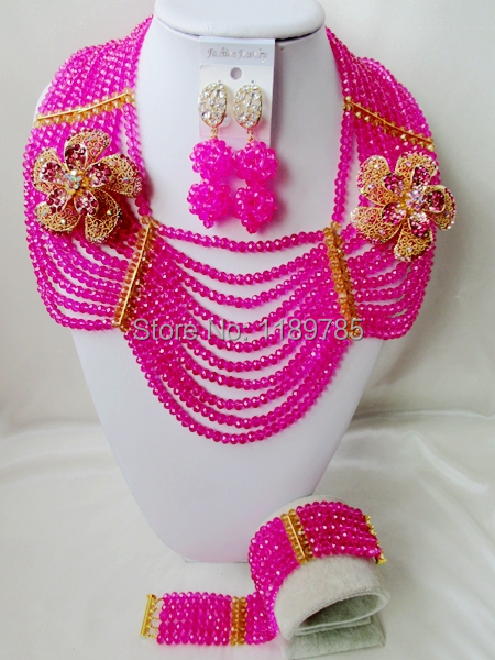 Promotion Free Shipping African Wedding Jewelry Set Costume Nigerian  Crystal Beads Jewelry Set Wholesale NEW A-10322<br><br>Aliexpress